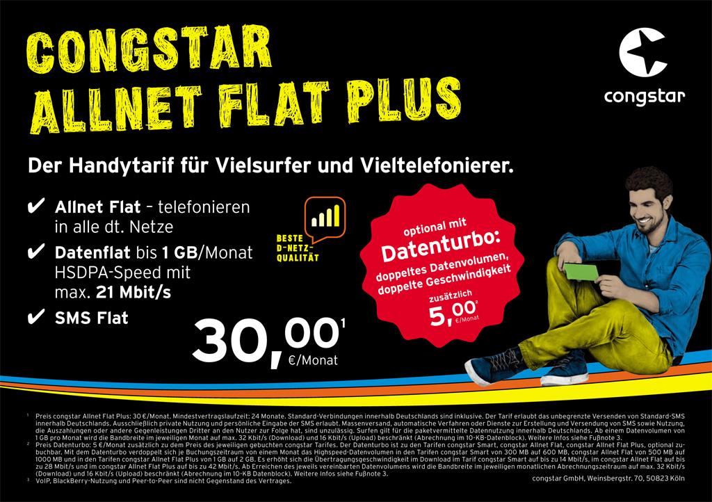 Congstar Allnet Flat Plus Festnetz Dsl Lte