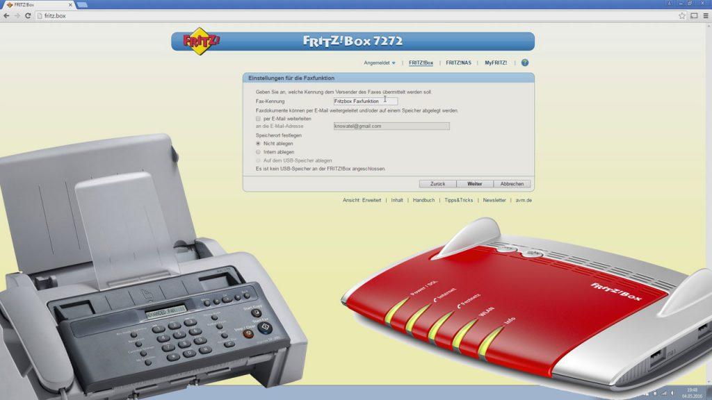 Faxfunktion in der Fritzbox einrichten und Faxe per E-Mail empfangen