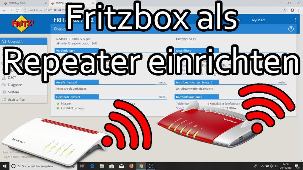 Fritzbox als WLAN-Repeater einrichten