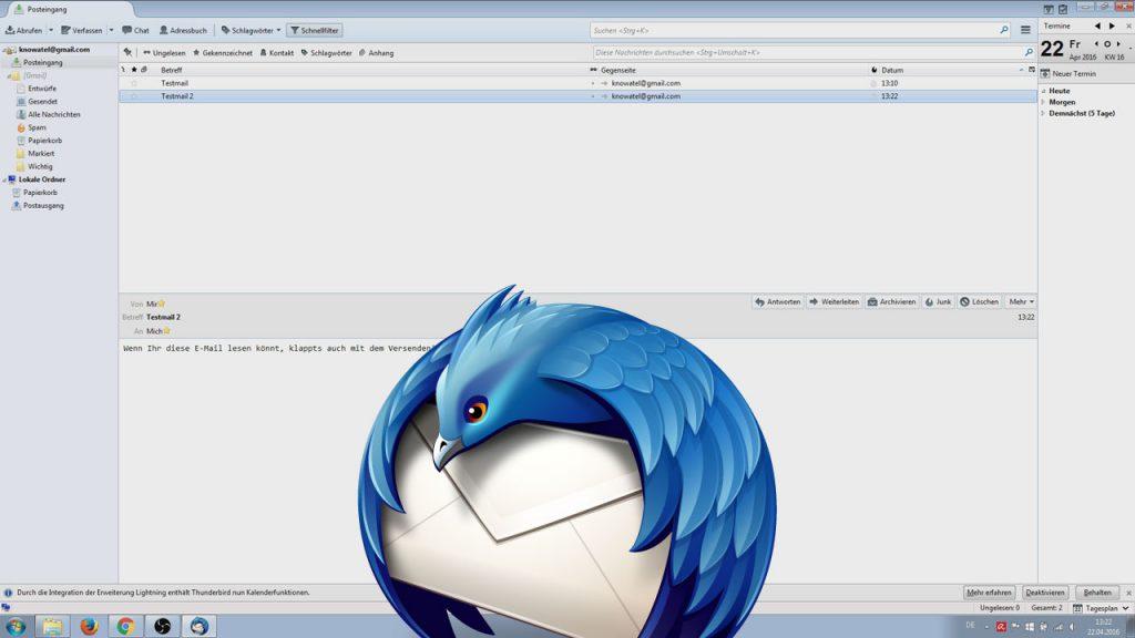Mozilla Thunderbird installieren und E-Mail Adresse einrichten