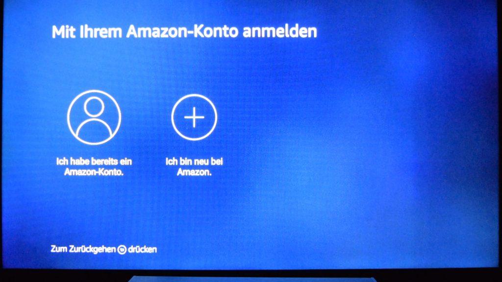 Bevor Ihr losstreamen könnt, müsst Ihr euch mit eurem Amazon Konto verbinden