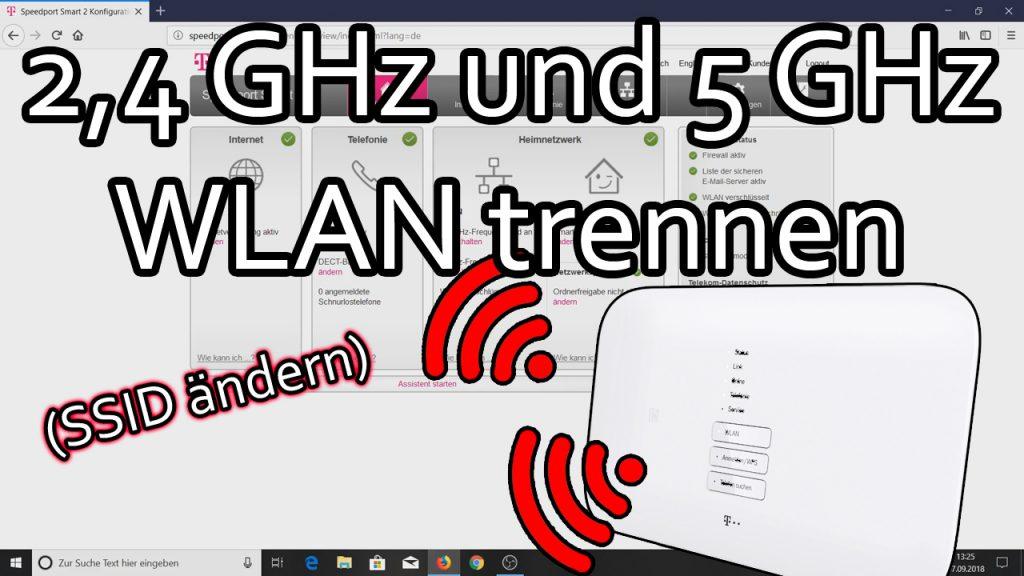 2.4 GHz und 5 GHz WLAN trennen beim Telekom Speedport Router