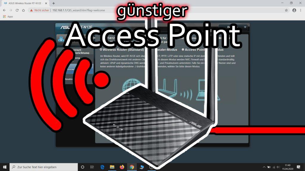 ASUS Router als Access Point einrichten (ASUS RT-N12E)