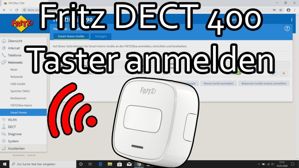 Fritz DECT 400 Taster anmelden und kurze Optionsübersicht