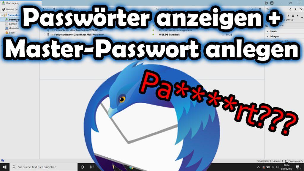 Mozilla Thunderbird – Passwörter anzeigen lassen und Master-Passwort setzen