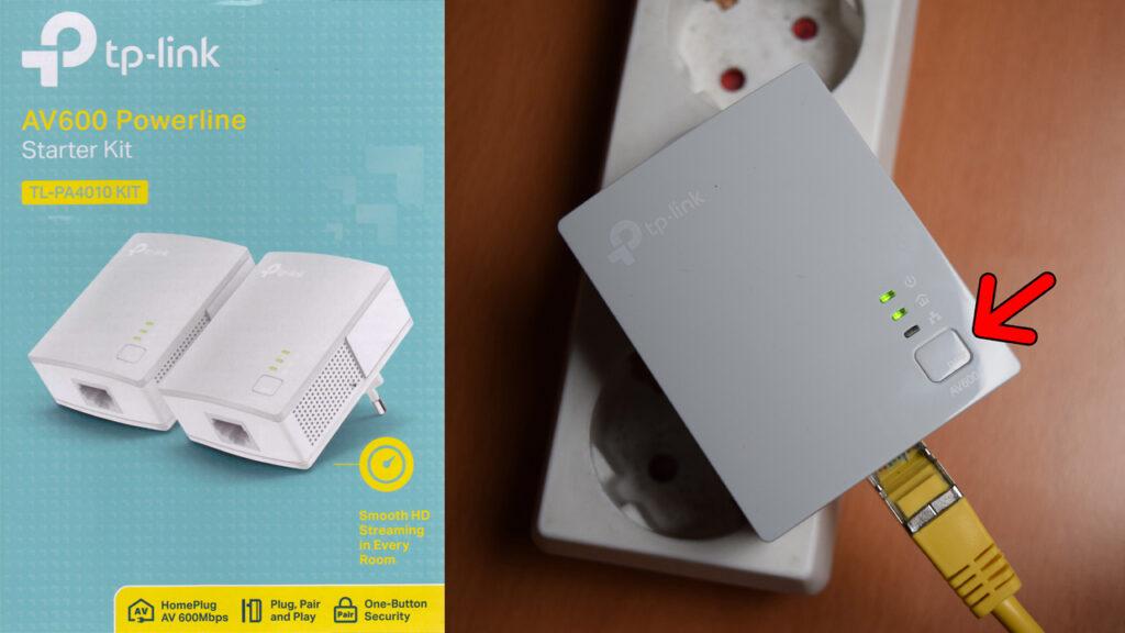 TP-Link Powerline Adapter einrichten und verbinden (TP-Link TL-PA4010)