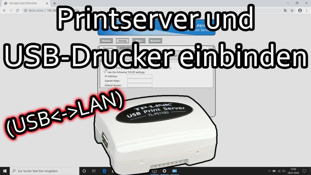 TP-Link Printserver einrichten – USB-Drucker im Netzwerk (TL-PS-110U)
