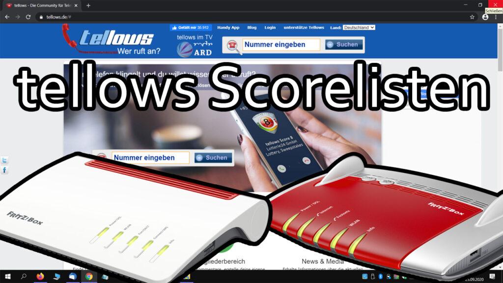 Fritzbox – tellows Scorelisten zur Anruferkennung und Rufsperre integrieren