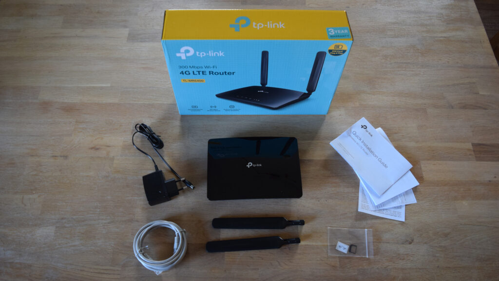 TP-Link TL-MR6400 4GLTE WLAN Router Lieferumfang