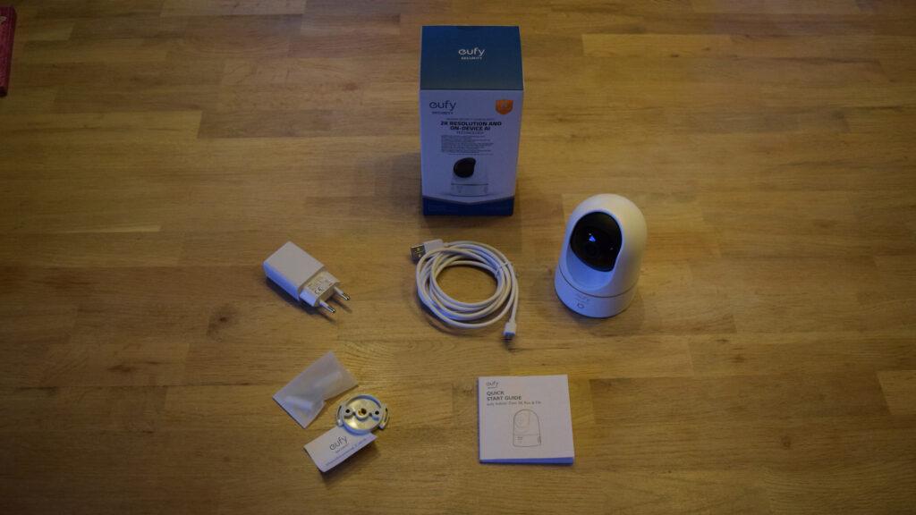 Eufy Security Indoor Cam 2K Überwachungskamera Lieferumfang