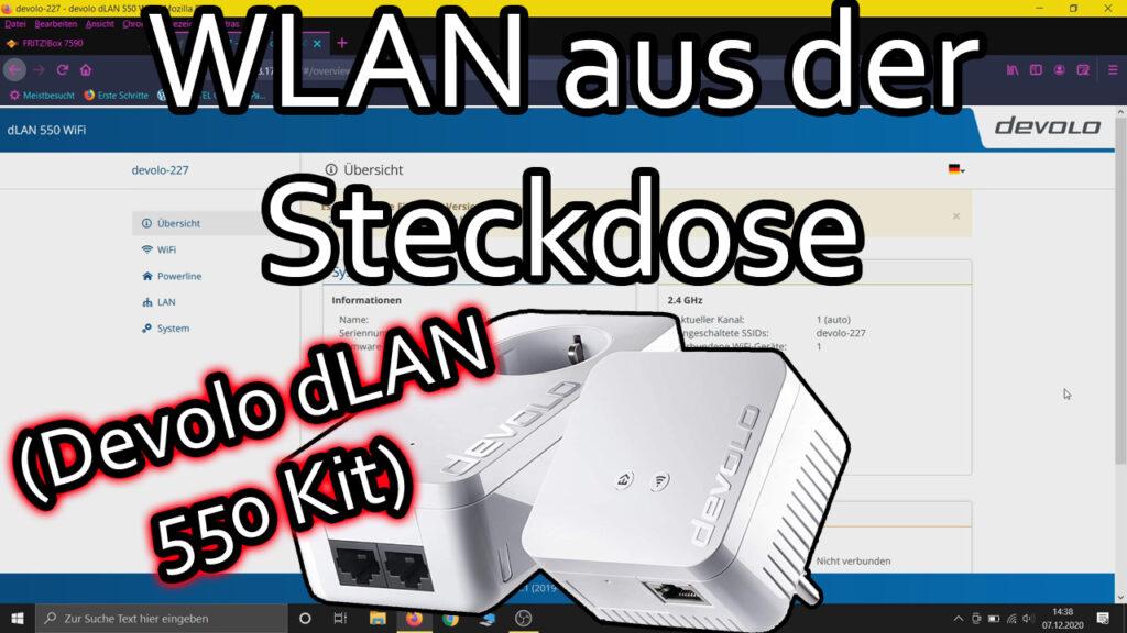 Devolo dLAN 550 WiFi Installation (Powerline Starter Kit einrichten)